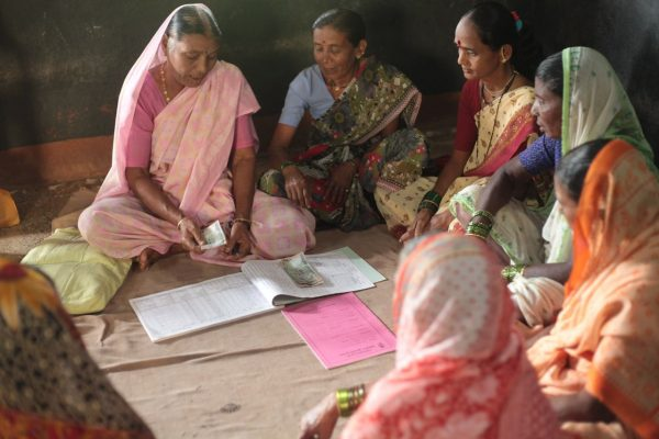 Women lend, borrow and save in a SHG